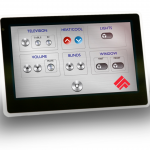 "7"" Capacitive PoE in-wall touch screen controller"
